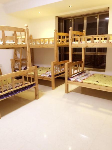 Upper Bunk Bed in 8-Bed Dormitory Room