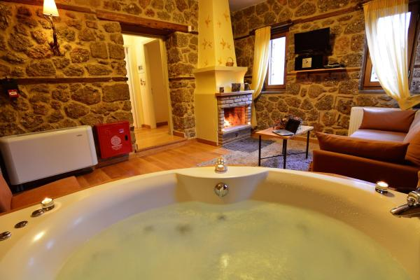 Suite with Spa Bath and Fireplace