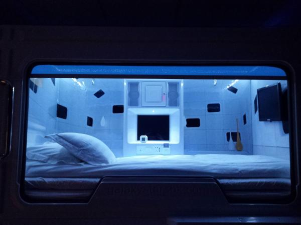 Capsule Bed in 8-Bed Mixed Dormitory Room