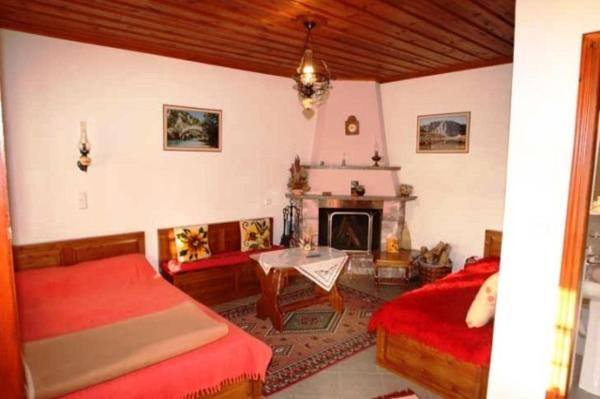Double Room with Mountain View and Fireplace