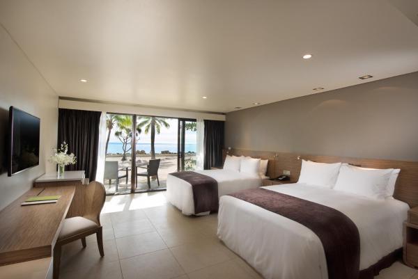 Double Queen Guest Room Beachfront with Balcony