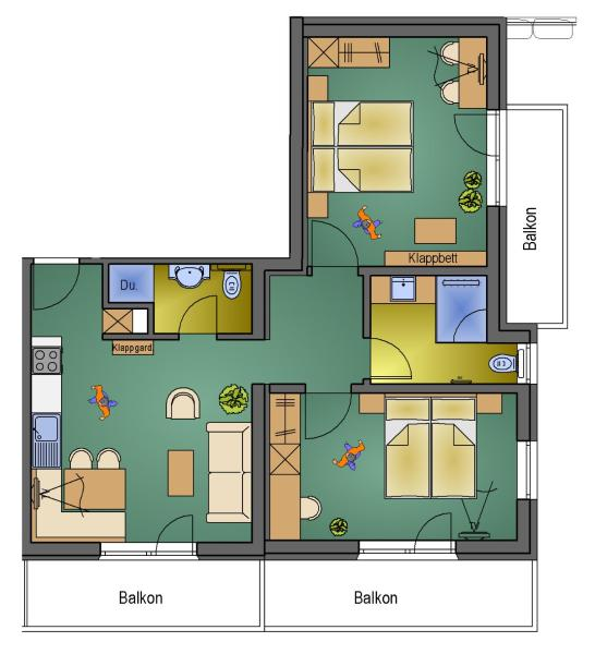 Deluxe Two-Bedroom Apartment (No. 01)