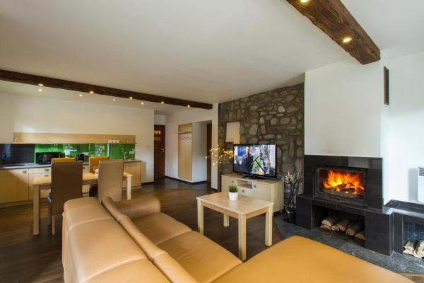 Large One-Bedroom Apartment with Fireplace