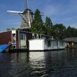 Houseboat under the Mill, Amsterdam