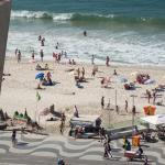 Charmoso vista praia e mar Copacabana,  Rio de Janeiro