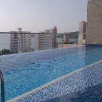 ホテル写真: Apartamento 2 alcobas piscina velas 14 caballero, サンタ・マルタ