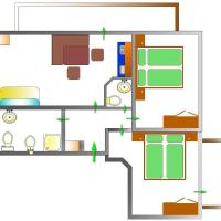 Two-Bedroom Apartment with Balcony