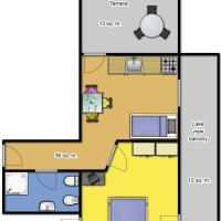 One-Bedroom Apartment with Terrace and Pool View - Second Floor (3 Adults)