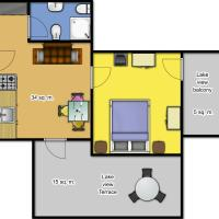 One-Bedroom Apartment (3 Adults), with Terrance and Lake View - Second Floor