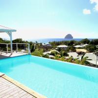 Zdjęcia hotelu: Villa with outstanding ocean view, Le Diamant