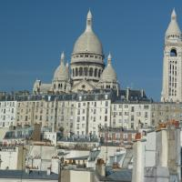Studio with View of Sacre Coeur Montmartre