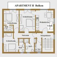 Comfort Three-Bedroom Apartment with Balcony