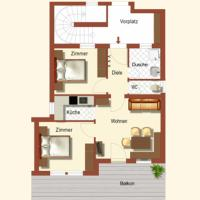 Two-Bedroom Apartment with Balcony 1