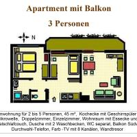 Apartment with Balcony (3 Adults)