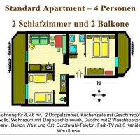 Standard Two-Bedroom Apartment with Balcony