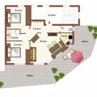 Two-Bedroom Apartment with Balcony 2