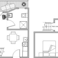 Duplex One-Bedroom Apartment with Balcony