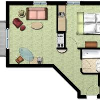 One-Bedroom Apartment - Birdie (3-4 persons)