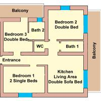 Standard Three-Bedroom Apartment with Free Tauern Spa Entry