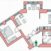 Two-Bedroom Apartment in I.P.Pavlova 17 street