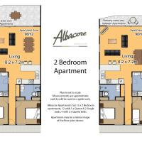 Two-Bedroom Apartment - Lake View - 5 Night min.
