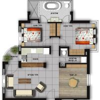 Two-Bedroom Apartment - Shimshon Hagibor 1