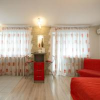 Red and White Studio Apartment with Balcony and Kitchenette  - Volodymyrska street 76