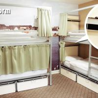 Bed in 4-Bed Mixed Dormitory Room with Shared Bathroom