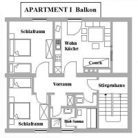 Comfort Two-Bedroom Apartment with Balcony and Sauna