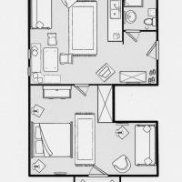Large One-Bedroom Apartment (2-3 Adults)