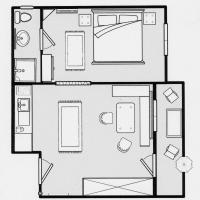 Small One-Bedroom Apartment (2 Adults)