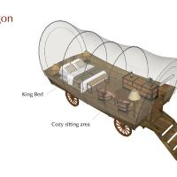 Wagon with King Bed