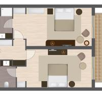 Two-Bedroom Lake House with Balcony (4 Adults)