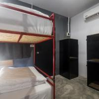 Bed in 4-Bed Female Dormitory Room with Fan