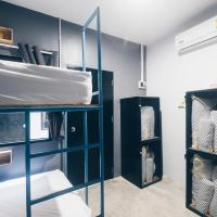 Bed in 4-Bed Mixed Dormitory Room with Fan