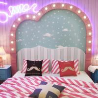 Double Room with Pink Color Decoration and window (107/207/307/407)
