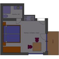 One-Bedroom Apartment with Balcony (Top1)