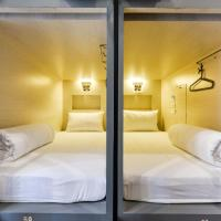 Single Bed Cube Front Entry In Mixed Dormitory