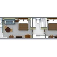 2 Bedroom Oceanfront Efficiency (Suite) with 2 Queen Beds and 1 Sleeper Sofa - A1