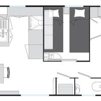 Two-Bedroom Deluxe Mobile-Home