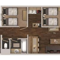Two-Bedroom Apartment with Cabin (6 Adults)
