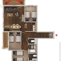 Three-Bedroom Comfort Apartment (6 Adults)