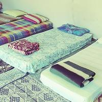 Single Bed in Small Dormitory Tent
