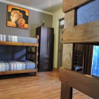 Bed in 6-Bed Dormitory Room with External Shared Bathroom