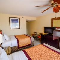 Double Room with Two Double Beds and Sunset View