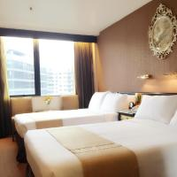 Deluxe Double Room with Two Double Beds and Garden View