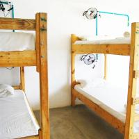 Bed in 4-Bed Dormitory Room with fan
