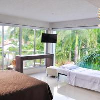 Quadruple Room with Balcony and Pool View