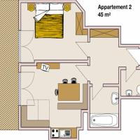Apartment 2 (2-4 Adults)