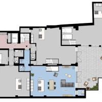 Two-Bedroom Apartment Split-Level with garden
